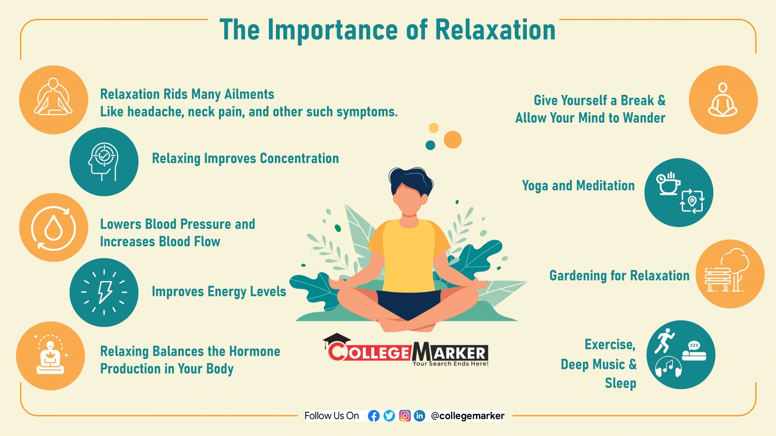 The importance of relaxation - Infographics