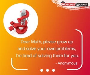 funny mathematics quote - CollegeMarker