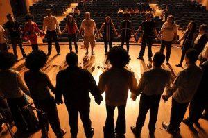 theatre artists on stage - CollegeMarker