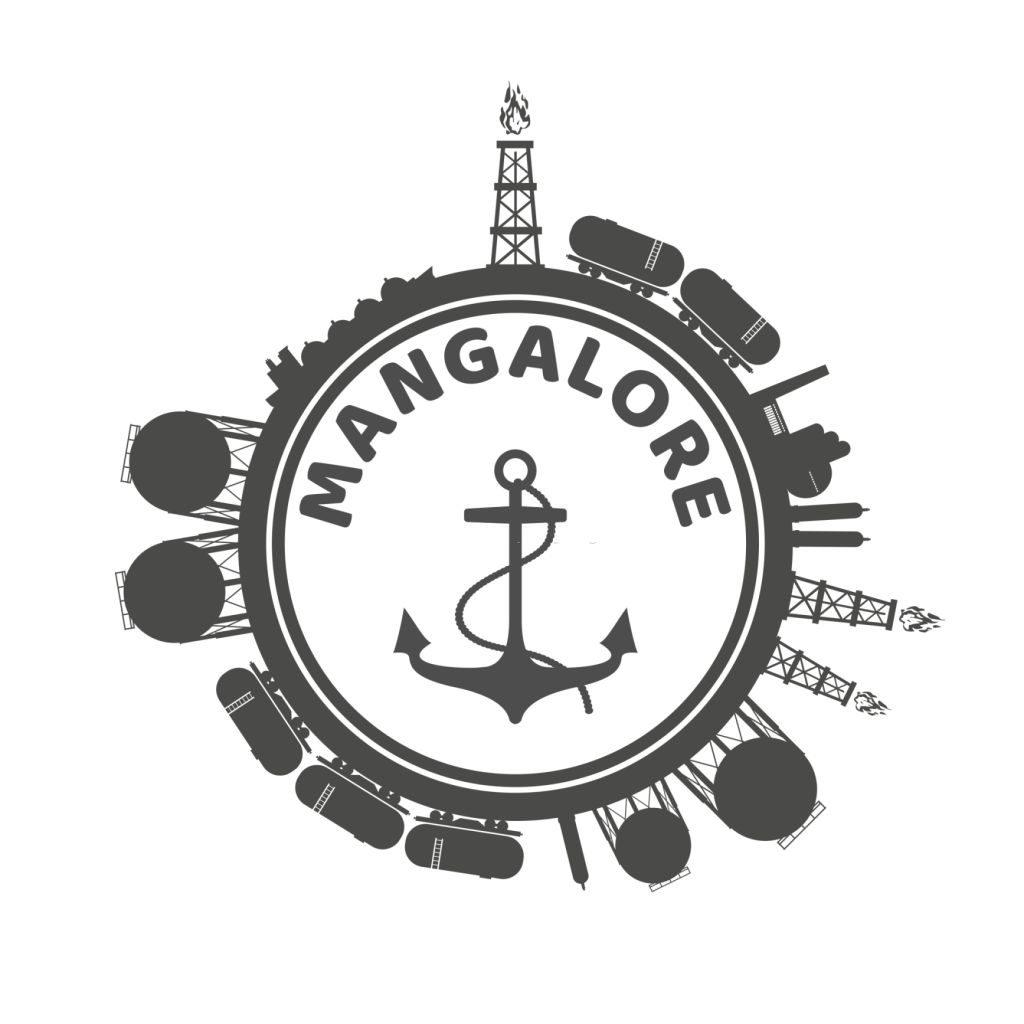 Mangalore written inside ship steering wheel