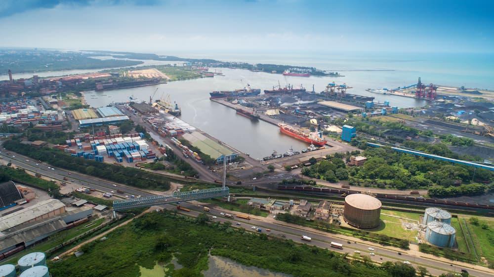 Mangalore Port top view