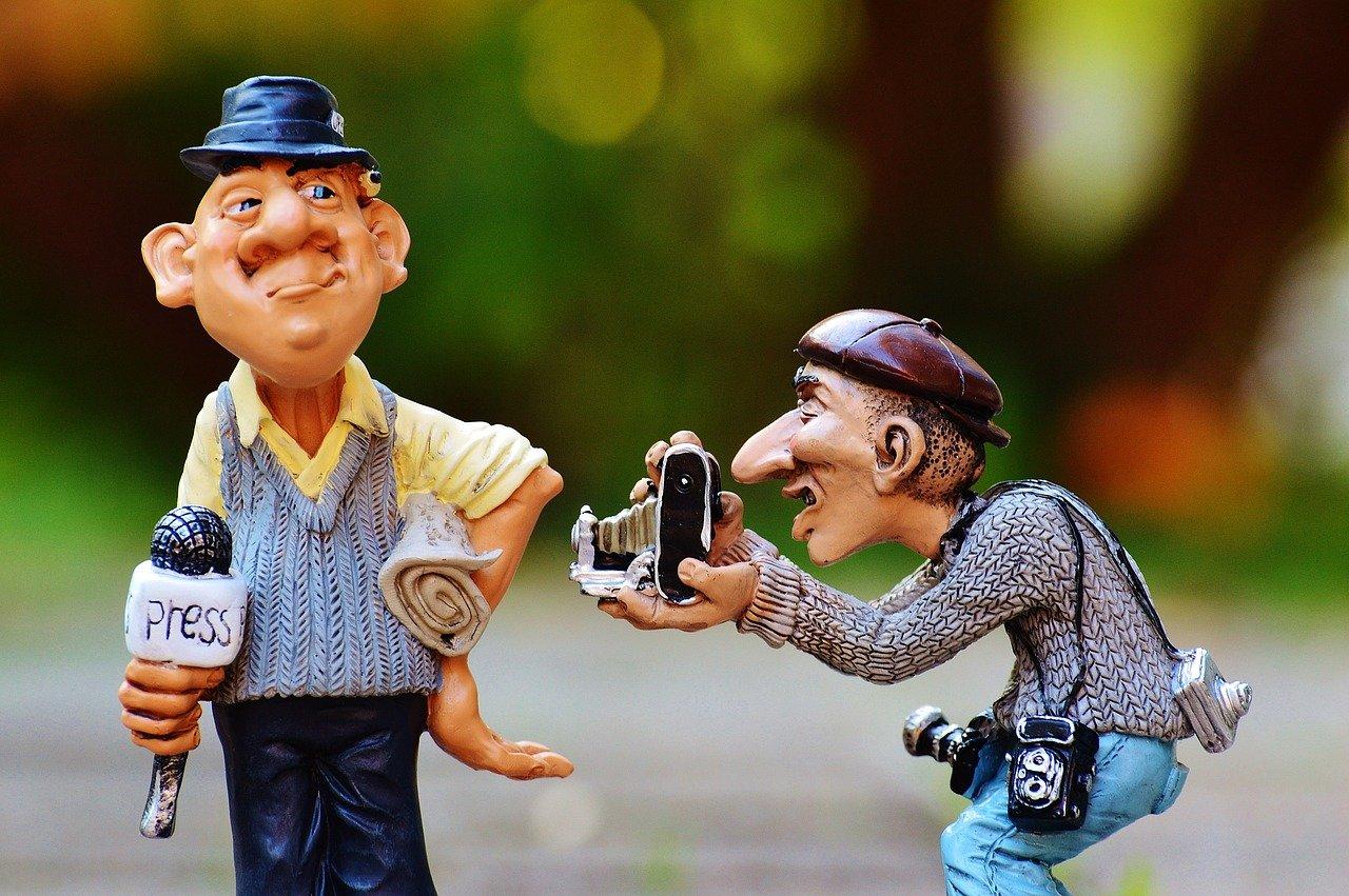 Funny representational image of journalism
