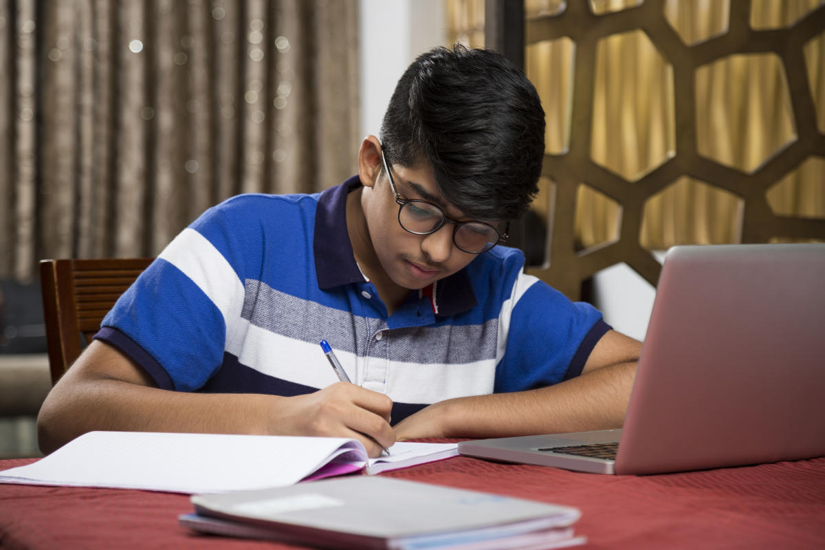 indian student studying
