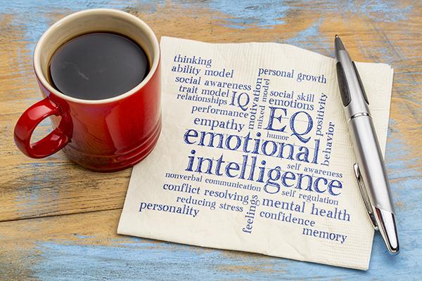 Emotional Intelligence written over a book